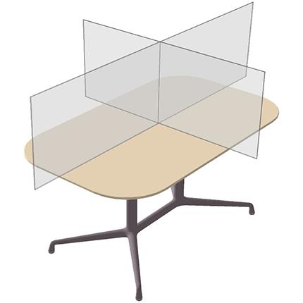 plexi scherm bureau ViewCross - 3D Zicht