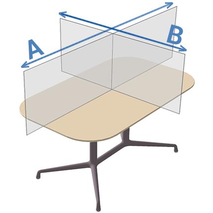 dimensions du panneau plexiglass bureau ViewCross