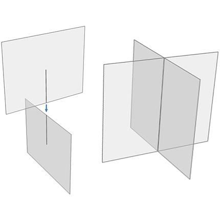 plexi scherm bureau ViewCross - Eenvoudige Montage