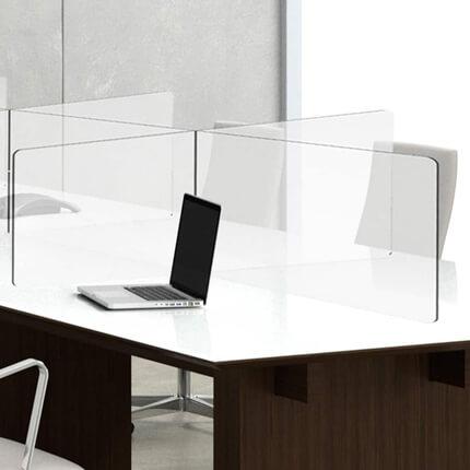 Plexi Scherm Bureau ViewCross – dubbel voorbeeld in vergaderruimte