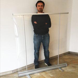 oprolbaar scherm met aanpasbare hoogte - 140cm