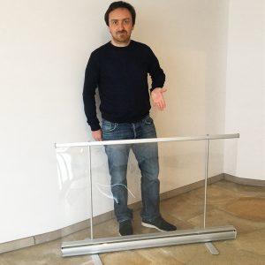 oprolbaar scherm met aanpasbare hoogte - 80cm