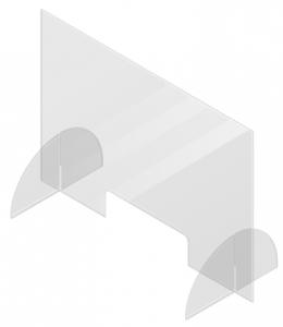 plexiglas coronascherm staand voor bureau en horeca