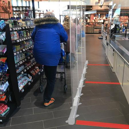 ViewRoll paroi de prévention comme séparation transparente au magasin
