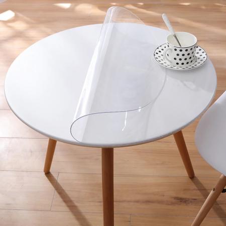 hygiënescherm voor ronde tafel - transparant tafelzeil