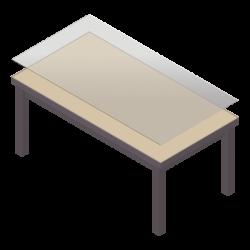 beschermend tafelzeil voor rechthoekige tafel - icoon