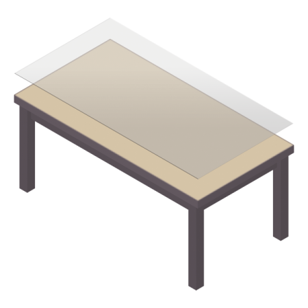 protège table sur mesure pour table rectangulaire