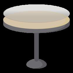 beschermend tafelzeil voor ronde tafel - icoon