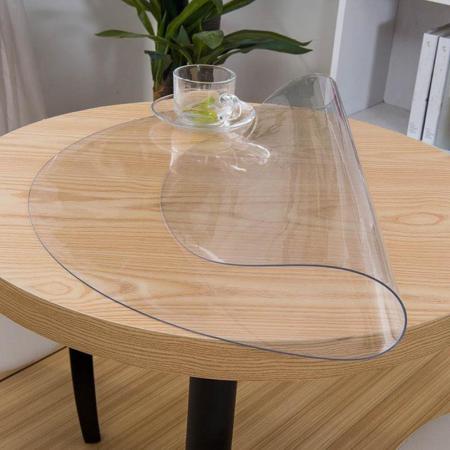 hygiënische bescherming voor ronde tafel - transparant en op maat